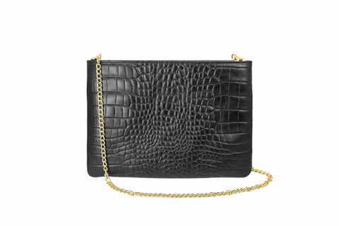 Black Alligator Hero Handbag