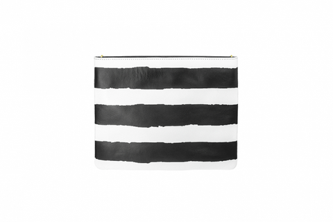 Monochrome Stripe Hero Bag
