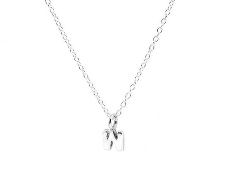 Tiny Silver Initial Delicate Necklace