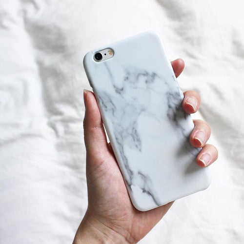 iPhone Cover - White Marble