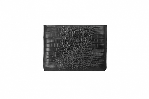 Black Croc Hero Handbag