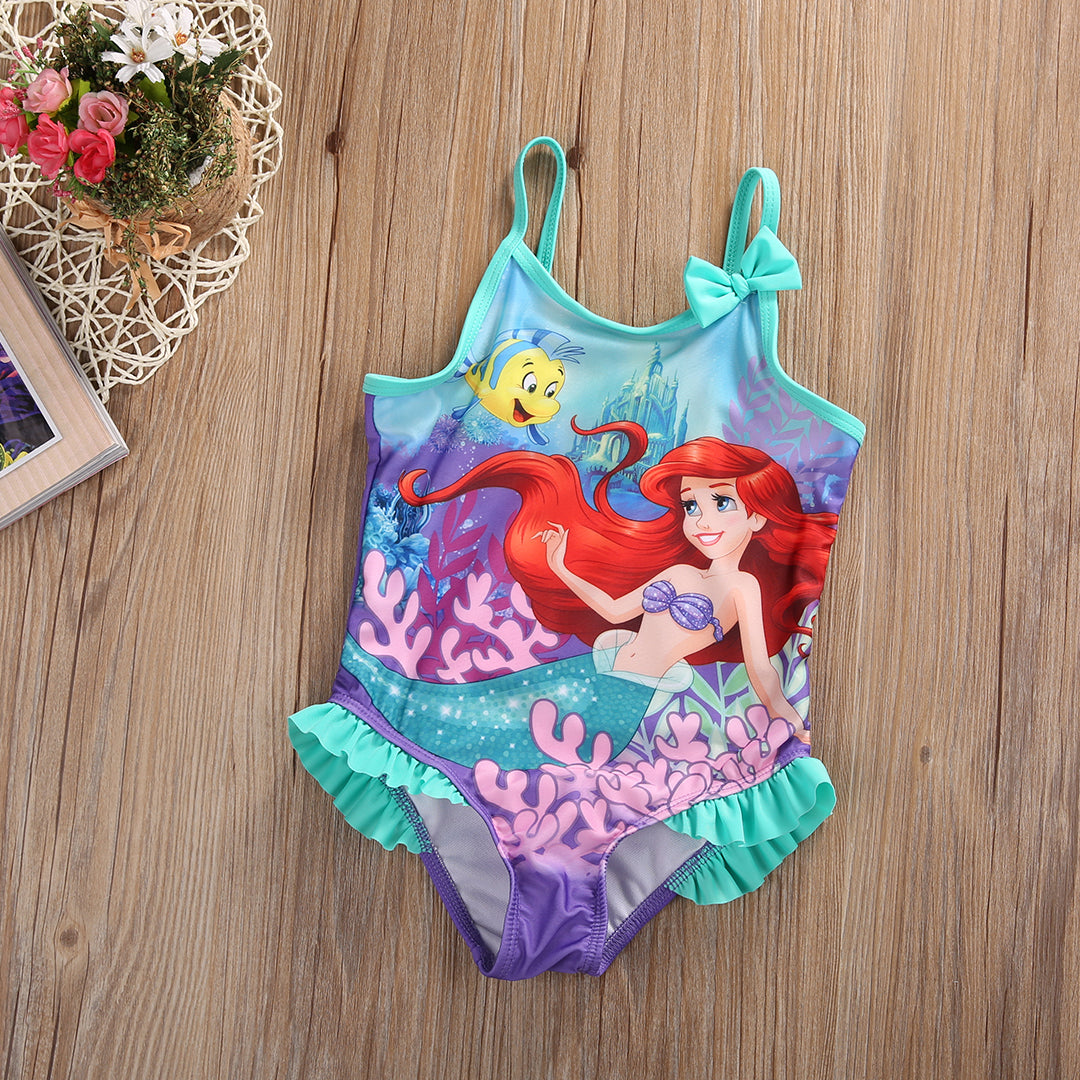 Kids Toddler Baby Girls Little Mermaid One Piece Swimwear Swimsuit Bathing Suit Bikini