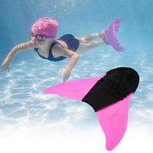 Swimming Monofin Fins Training Flipper Mermaid Swim Fin Foot Flipper Kids Adult