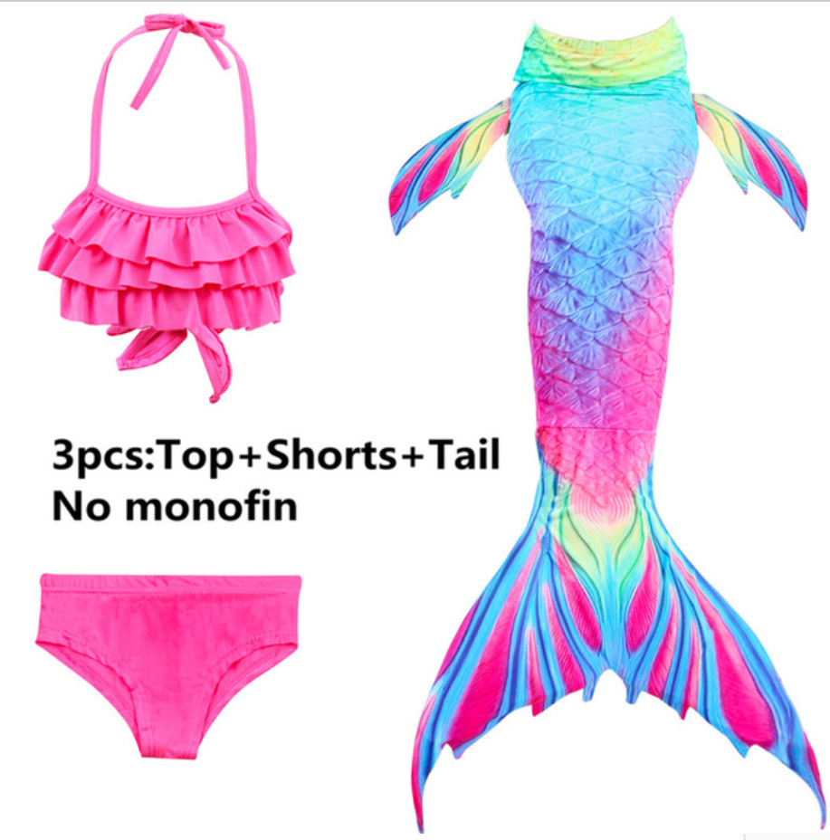Girls Cosplay Mermaid Tail Swimwear Bikini Summer Swim Dress Cosplay N Mermaid Tails