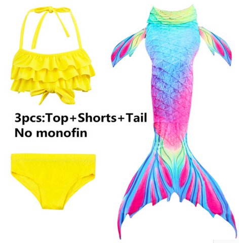 Girls Cosplay Mermaid Tail Swimwear Bikini Summer Swim Dress Cosplay O Mermaid Tails