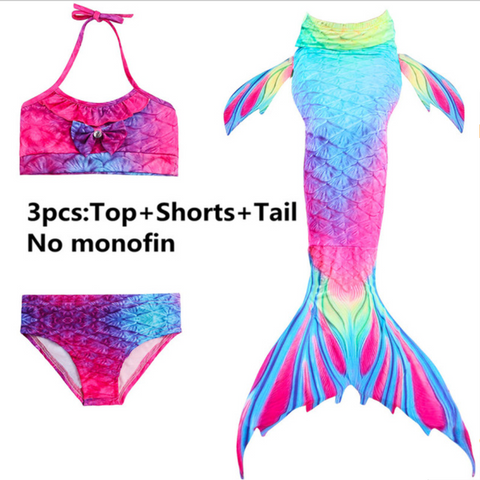 Girls Cosplay Mermaid Tail Swimwear Bikini Summer Swim Dress Cosplay P Mermaid Tails