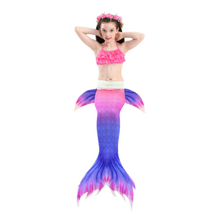 Girls Cosplay Mermaid Tail Swimwear Bikini Summer Swim Dress Cosplay A Mermaid Tails