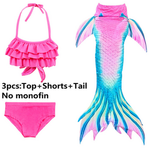 Girls Cosplay Mermaid Tail Swimwear Bikini Summer Swim Dress Cosplay T Mermaid Tails