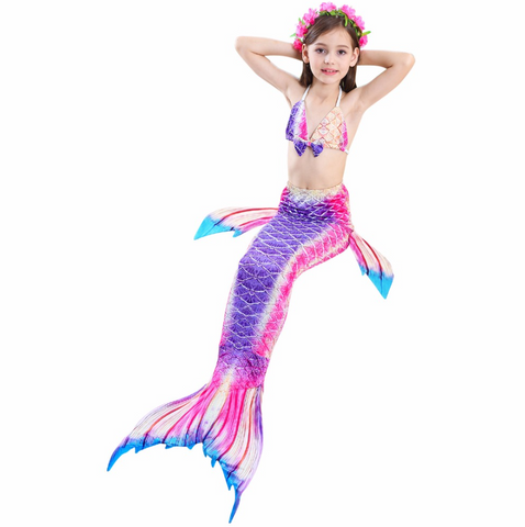 Girls Cosplay Mermaid Tail Swimwear Bikini Summer Swim Dress Cosplay B Mermaid Tails