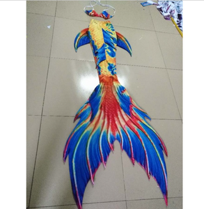 Yellow, Red and Blue well combination Swimmable Mermaid Tails for Adults Women with Monofin