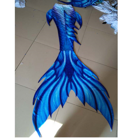 Swimmable Mermaid Blue Tails for Adults Women with Monofin