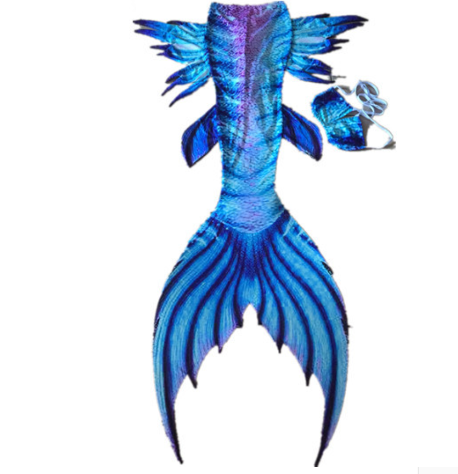 Classic Blue Swimmable Mermaid Tails for Adults Women with Monofin