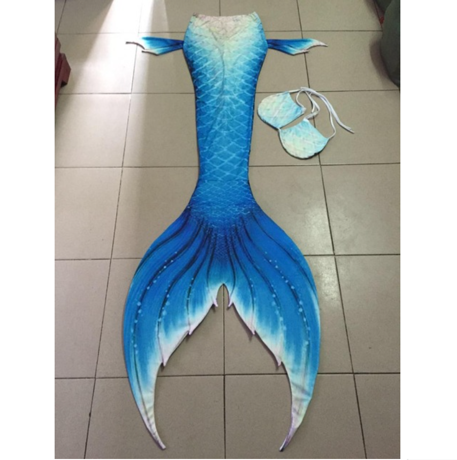 Fantastic Blue Swimmable Mermaid  Tails for Adults Women with Monofin