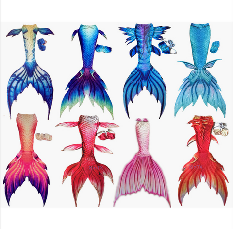 Custom Silicone Swimmable Mermaid Tails for Adults Women with Monofin