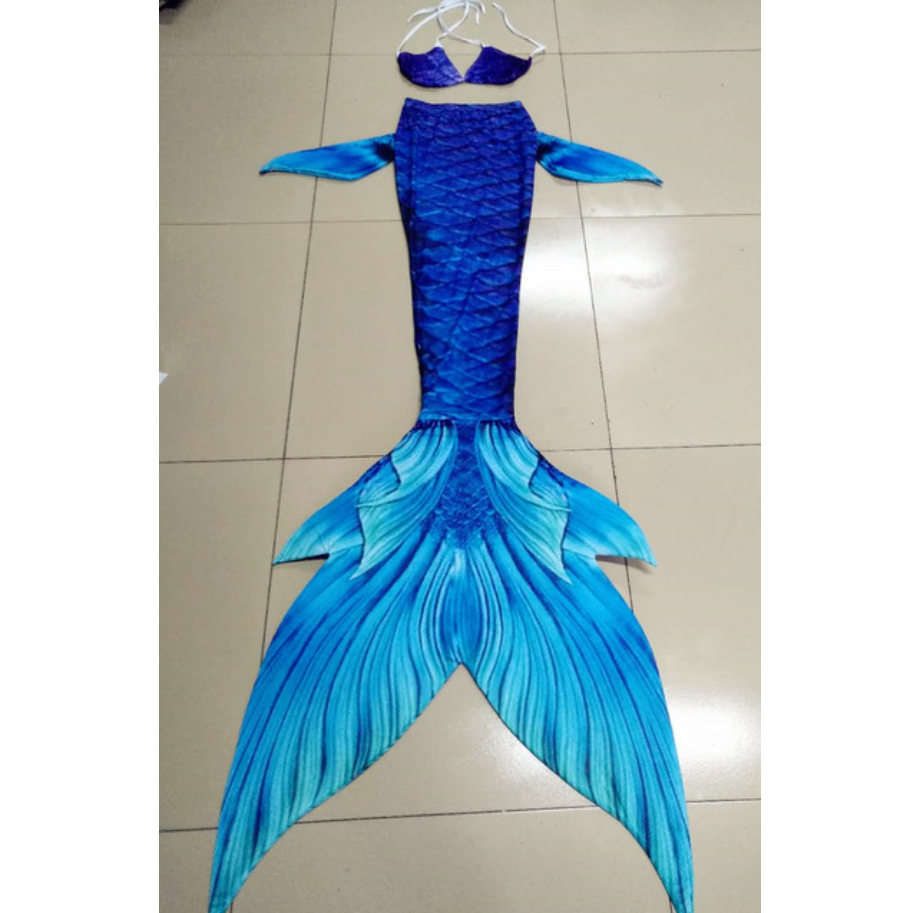 Blue compared with Light Blue Swimmable Mermaid Tails for Adults Women with Monofin