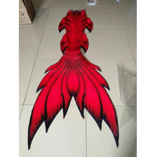 Dark Red Swimmable Mermaid Tails for Adults Women with Monofin