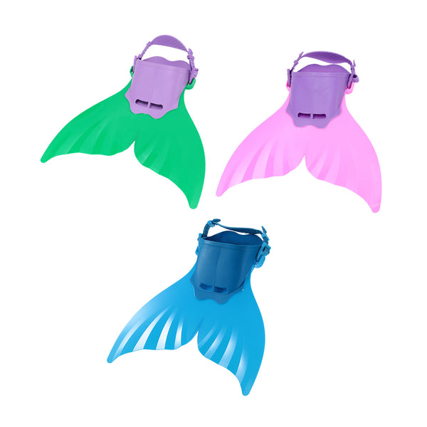Mermaid Fin Monofin Mermaid Flippers Diving Training Flipper Kids Adult