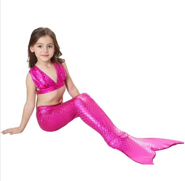 Kids Swimmable Mermaid Swimsuit Bikini for Cheap Pink Girls Mermaid Tails For Swimming Cosplay