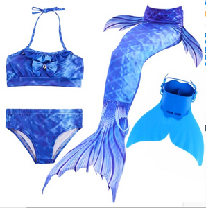 Kids Best Mermaid Tails for Swimming Swimsuit Bikini L with Fins Monofin Flipper for Girls
