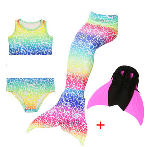 Girls Best Kids Mermaid Tail Swimwear Bikini for Swimming A with Fins Monofin Flipper for Girls