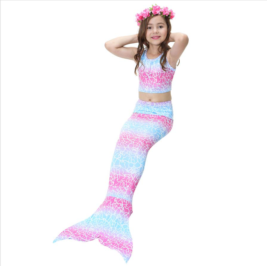 Cheap Mermaid Swim Tail for Girls Swimmable Swimwear Bikini A