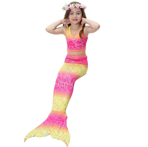 Cheap Mermaid Swim Tail for Girls Swimmable Swimwear Bikini C