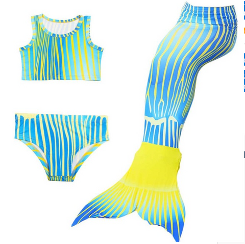 Cheap Mermaid Swim Tail for Girls Swimmable Swimwear Bikini H