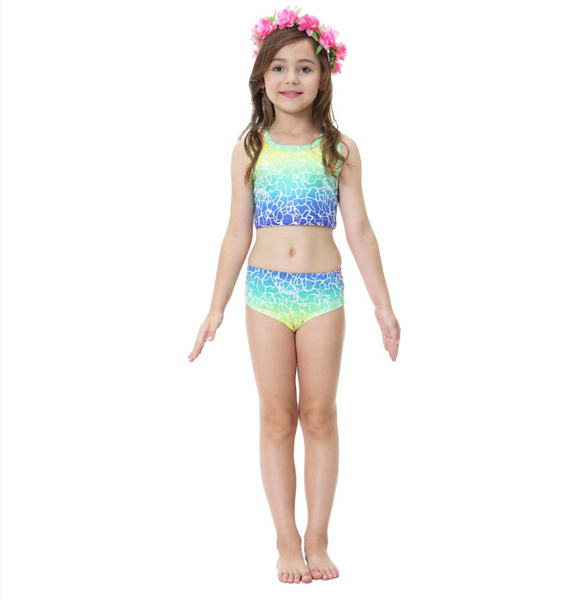 Cheap Mermaid Swim Tail for Girls Swimmable Swimwear Bikini B