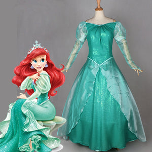 Ariel Blue Sparkly Dress - Priness Ariel Cosplay Dress