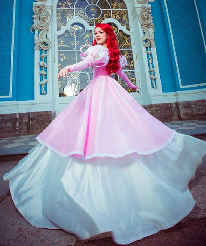 Ariel Pink Dress Costume Princess Ariel Cosplay Dress