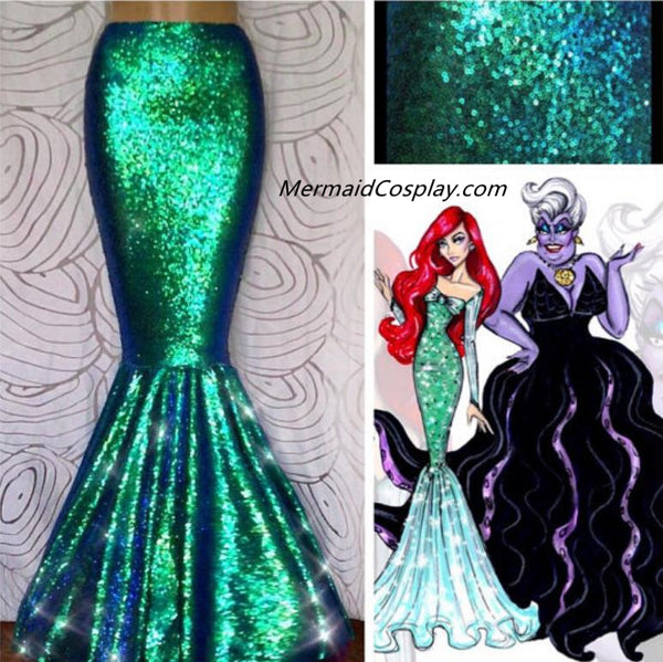 Ariel Costume Mermaid Skirt Sequins Mermaid Tail for Women