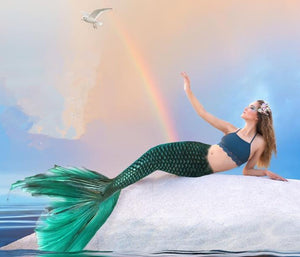 Custom Green Realistic Mermaid Tail For Swimming Adults Kids Any Sizes