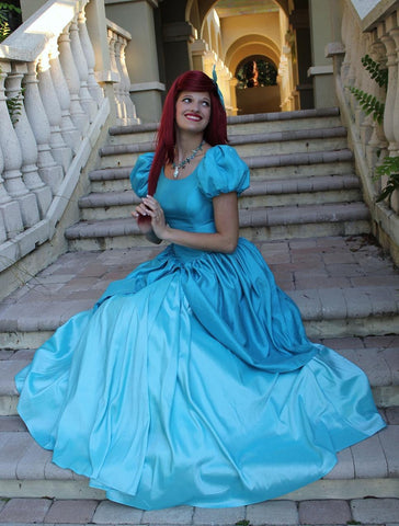 Blue Ariel Dress - Princess Ariel Blue Dress Cosplay Costume
