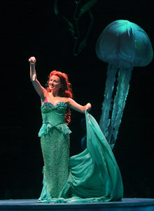 Princess Ariel Green Dress Musical Theatre Dress Cosplay Costume