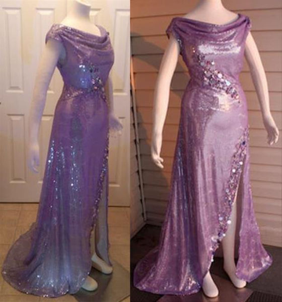 Sparkling Ariel Purple Dress Cosplay Costume Inspired The Little Mermaid