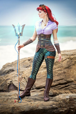 Steampunk Ariel Mermaid Costume Ariel Mermaid Outfits inspired Little Mermaid