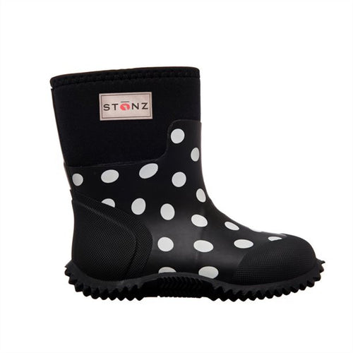 Rain Boots - West-Black & White - Size 2Y