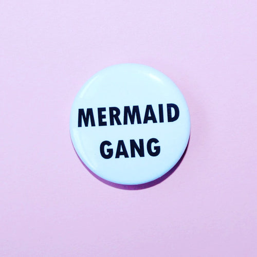 Blue Mermaid Gang Button