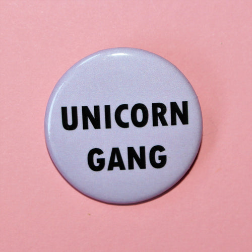 Lilac Unicorn Gang Button