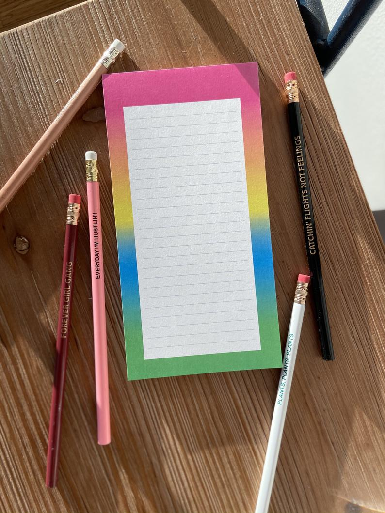 Rainbow 4X8 Lined Notepad | Multicolored Rainbow Notepad