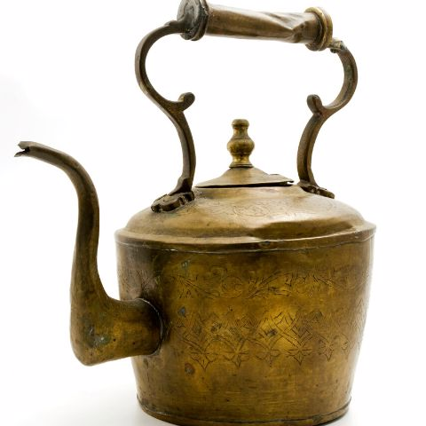 Old Brass Teapot