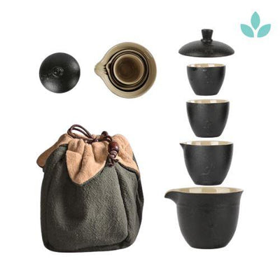 5-Piece Gaiwan Style Travel Tea Set-TopicTea