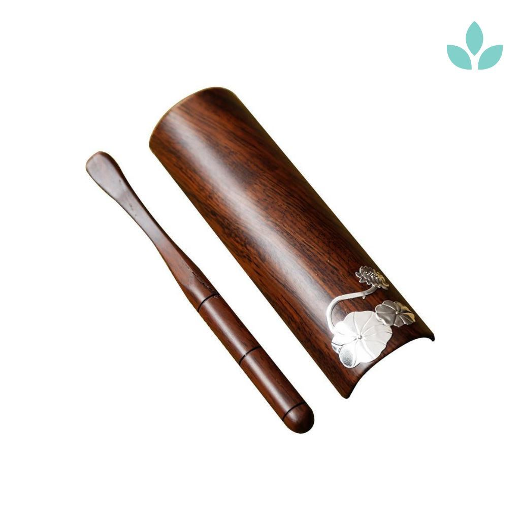 Bamboo Traditional Tea Scoop with Clip