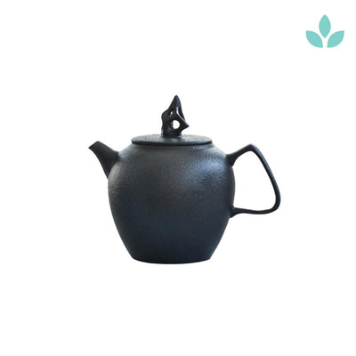 Black Crockery Japanese Teapot
