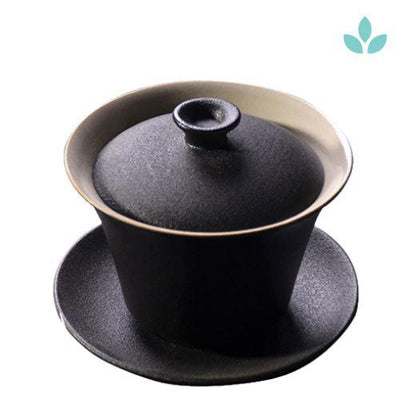 Black Crockery Ceramic Gaiwan