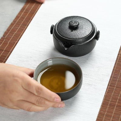 Black Crockery Travel Tea Set-Tea Set-TopicTea-TopicTea