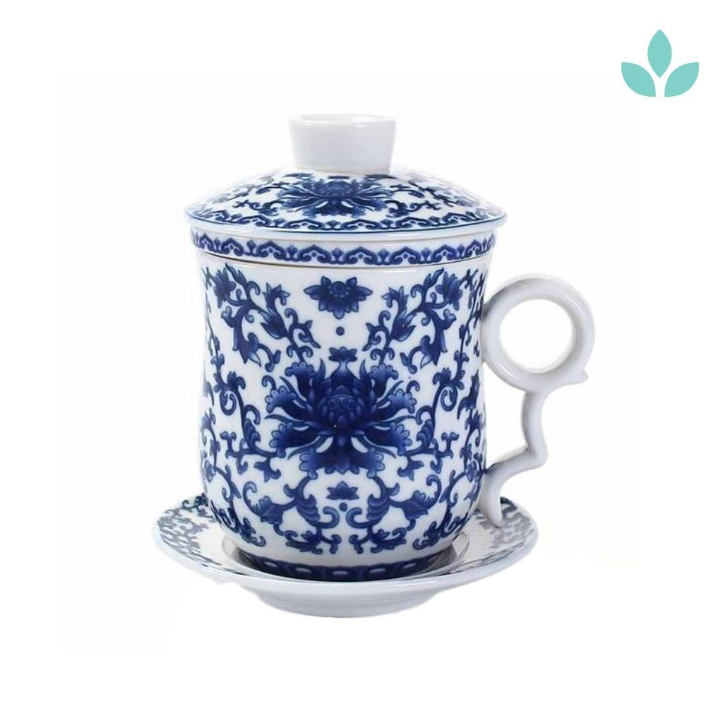 Blue And White Porcelain Chinese Tea Cup