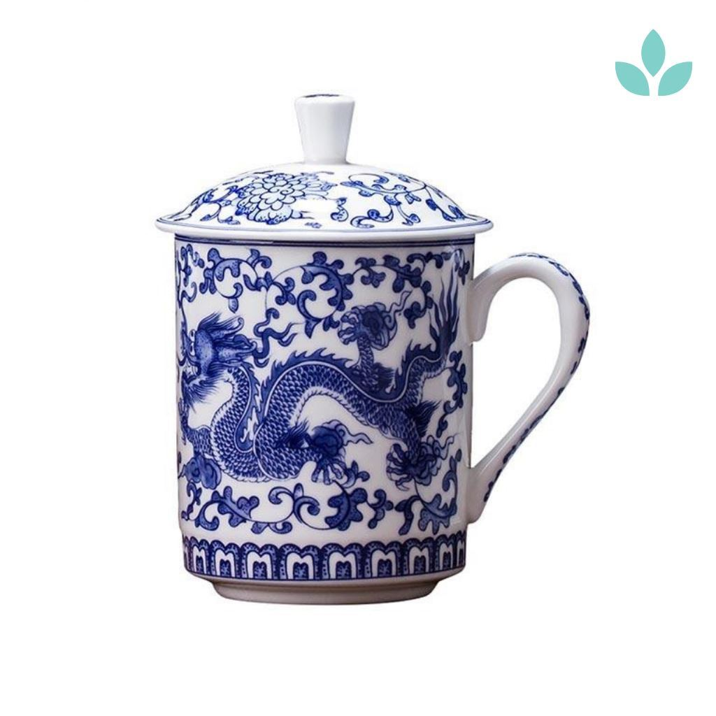 Blue and White Porcelain Dragon Pattern Chinese Tea Cup