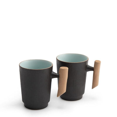 Ceramic Tea Mug with Wooden Handle-TopicTea