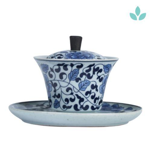 Ceramic Tureen Porcelain Gaiwan with Holder